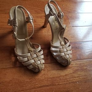 Chanel caged-toe shoes